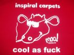 MENS INSPIRAL CARPETS `COOL AS F*@K` T-SHIRT 1